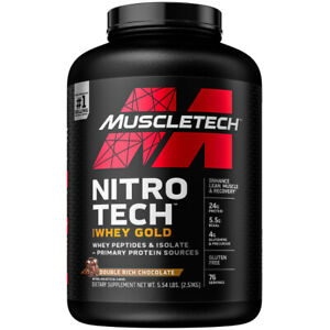 MuscleTech NitroTech 100% Whey Gold 76 Servings WHEY PROTEIN PEPTIDES 2.5 kg