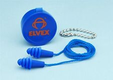 Elvex Quattro Jelli Snug Ear Plugs Hearing Protection Corded with Case NRR25