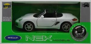 WELLY PORSCHE BOXSTER S WHITE 1:34 DIE CAST METAL MODEL NEW IN BOX