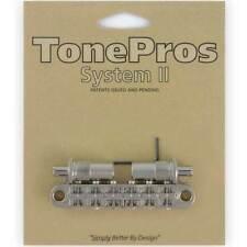 NEW TonePros T3BT-N Nashville Tunematic Bridge (Metric Thread) Tone Pros NICKEL