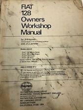 1974-1969 Fiat 128 Haynes Service Repair Owners Workshop Manual RARE HARD TOFIND