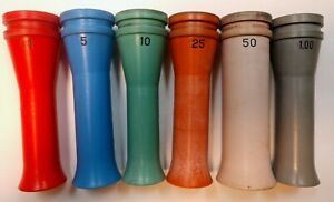 Brandt Coin Wrapping Tube Lot - Fits Model 748 Coin Counter