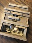 Vintage Wooden Egg Crate Antique Carrier Box Inserts Handle 8 1 2 x6