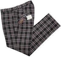 Relco Mens Stay Press Black Tartan Trousers Sta Prest Retro Mod Skin Ska Golf