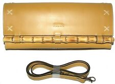 CLAUDIA FIRENZE Mustard Yellow Leather Purse  Shoulder bag Clutch NWT