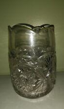 EAPG Pressed Glass 6 Inch Tall Clear Starburst Celery Vase