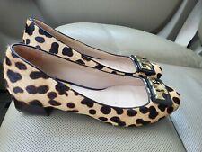 Tory Burch Leopard Calf Hair Reba Shoes 7, 7.5, 8 see description