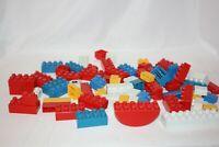 Lego DUPLO Bricks slopes Building Blocks Creative Play Red White Blue Lot of 70