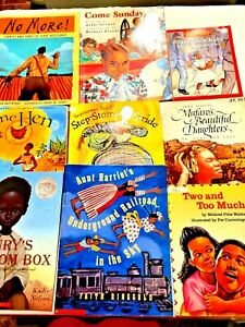 Lot of 21 Childrens African American Themed Picture Books Black History