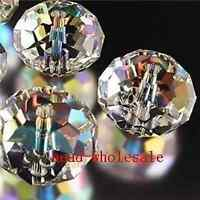 Wholesale 80pcs Shiny Clear Crystal Glass Spacer Bead Diy Bracelet 4x6mm