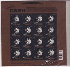 JOHNNY CASH US MUSIC ICONS SONGWRITER Scott #4789 16 MVF NIP FOREVER STAMP SHEET