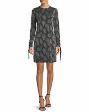 MICHAEL Michael Kors Paisley Drawstring Sleeve Dress XL