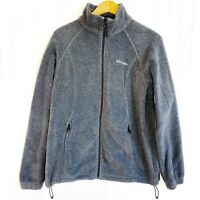 Women's Columbia Benton Springs Grey Fleece Full Zip Long Sleeve Large Jacket