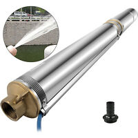 """4"""" Submersible Bore Water Pump Well Irrigation Stainless Steel 9000L/h 2200W"""