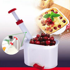 Cherry Olive Pitter Stone Seed Remover Machine Corer Container Kitchen Tool US