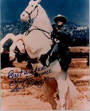 "Clayton Moore *UH* 20x25cm 10x8"" signed original signiert Lone Ranger RAR GF 789"