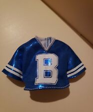 BARBIE DOLL CLOTHES FASHIONISTAS #91 Metallic Blue jersey SHIRT