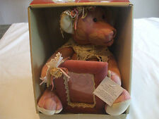 Victorian Pink Teddy Bear Victorian Style  With Matching Picture Frame 16 Inches