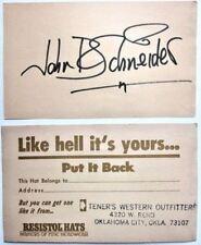 JOHN SCHNEIDER SIGNED 3X5 INDEX CARD BO AUTOGRAPH DUKES OF HAZZARD