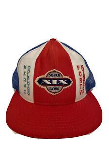 NEW Vintage SUPER BOWL XIX Trucker Hat 1985 Snapback - 49ers vs Dolphins