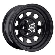"4-NEW Vision 84 D Window 15x8 5x4.75"" -19mm Gloss Black Wheels Rims"