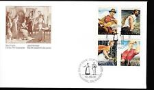 Canada 1992 FDC sc# 1432-1435 Canadian Folklore-3, block of 4