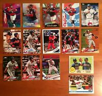 Francisco Lindor Base Inserts Chrome Pink Refractor - 15 Card Lot!