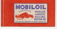 1940 South Africa 1/ Xmas Seal Booklet +Mobil Oil Adv.