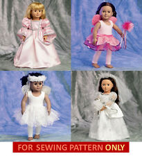 SALE! SEWING PATTERN! MAKE DOLL CLOTHES! BALLET~PRINCESS~BRIDE FIT AMERICAN GIRL