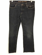 Harley Davidson Jeans Gray Contoured Boot Cut Stretch Style 99024 08VW Womens 8