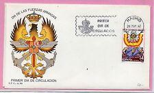 España Día de Las fuerzas Armadas Zaragoza Sobre 1º día año 1982 (DB-644)