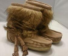 SZ 8 NEW JOIE Alabama Boots Bootie SCN-2413 38 Gesso-Multi Fur SOFT SHOES Boot