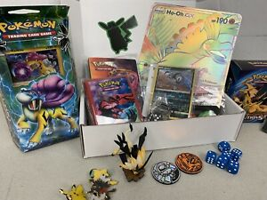 POKEMON TCG CARD BOX : MYSTERY ADVENTURE BOX w/ RARES, PACKS, PINS, COINS & MORE
