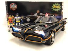 1966 Batmobile With Figures and Working Lights 1:18 Scale Jada 98625
