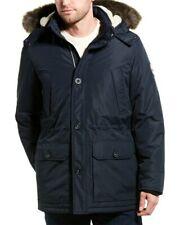 Nautica Men's Fur Hooded Parka Jacket Blue Size XL
