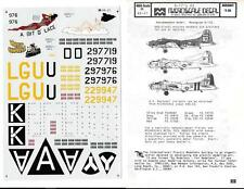 MicroScale 1/48 decal  B-17's #2 - 48-21 Used from collection