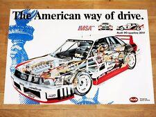 AUDI IMSA 90 GTO QUATTRO POSTER - AMERICAN WAY OF DRIVE / ORIGINAL VINTAGE RARE