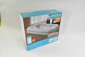 Intex Kids Inflatable Raised Frame Travel Air Mattress w/ Hand Pump (Open Box)