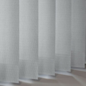 Topaz Silver Grey Dim-out Made to Measure Vertical Slats  89mm Metallic Shimmer