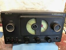 VINTAGE Hallicrafters Co Model S-38 Shortwave Ham Radio Receiver working well