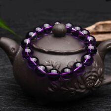 Round Natural Gemstone Crystal Amethyst Bracelet Buddha Beads Jewelry Beads