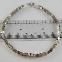 BRACCIALE GIADAN IN ARGENTO 925 EMATITE LUCIDA E 8 DIAMANTI NERI MADE IN ITALY