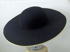 Cappello teatrale a tesa larga del 1700 fatto a mano  orlo oro