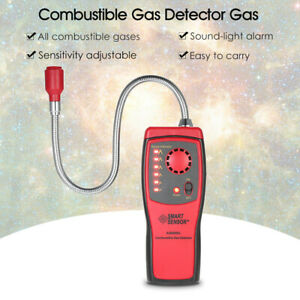 UK Combustible Gas Leak Detector Methane natural Gas Tester Sound Alarm Sensor