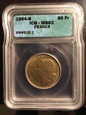 50 Francs G. GUIRAUD 1954 B MS62 / SUP62 par ICG