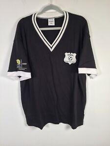 DEADSTOCK Sony Football Federation Australia black t shirt size 2XL