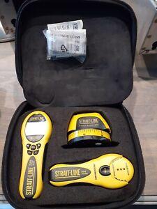 Strait-Line Stud Finder, Laser Tape & Straight Line Kit (3) Pc. Set W/ Case