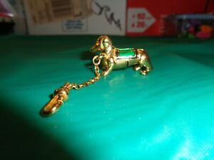 2003 Estee Lauder Intuition Golden Dachshund Weiner Dog Solid Perfume Compact