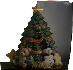 Potter & Smith Christmas Tree Ceramic Cookie Jar