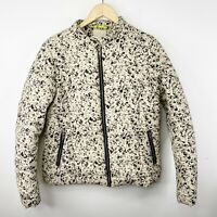 Numph Womens US Medium Quilted Puffer Coat Jacket Full Zip Speckled Bomber